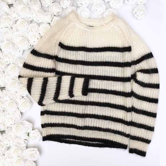 ffd6ab7fe All Saints Sweaters - All Saints Striped Crew Mohair Sweater